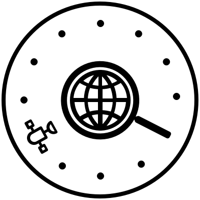 Satellite Searching Earth Logo